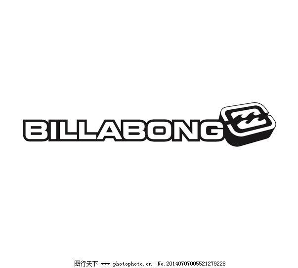 欣赏/Billabong logo设计欣赏Billabong服装品牌LOGO下载标志设计...