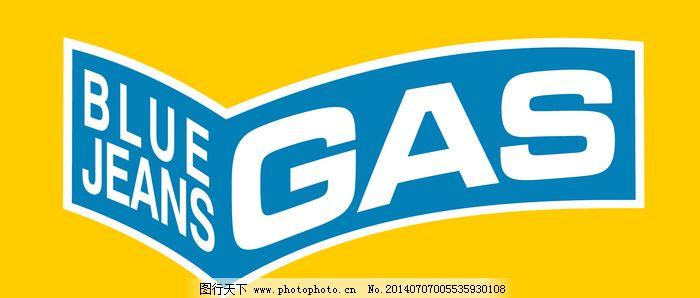 欣赏/Blue_Jeans_Gas logo设计欣赏Blue_Jeans_Gas服装品牌LOGO...
