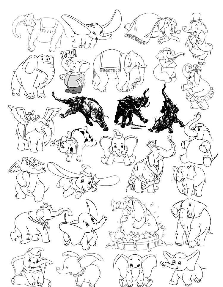 动物小象图片免费下载 300dpi gif动画 jpg 动漫动画 设计 动物小象