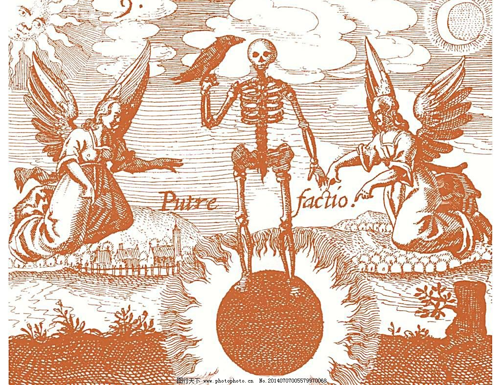 死神 天使 文化艺术 宗教 天使与死神 欧式画风 天使 死神 钢笔线条