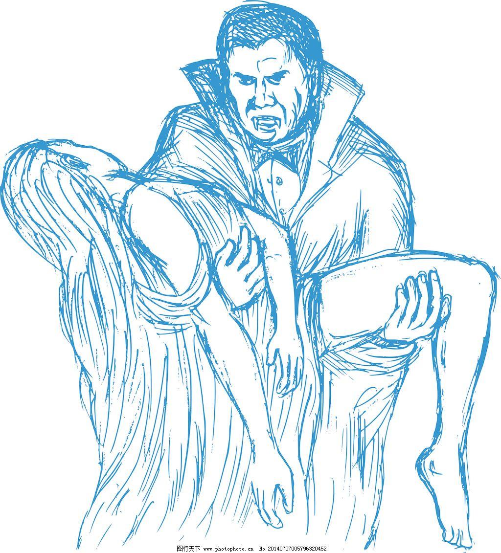 吸血鬼德古拉伯爵或携带猎物