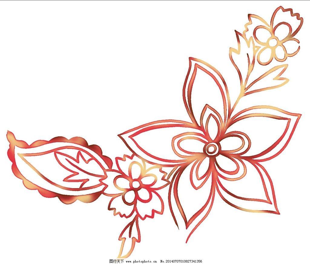 花瓣线条免费下载 花卉 手绘图 花瓣线条 手绘图 花瓣线条手绘素材