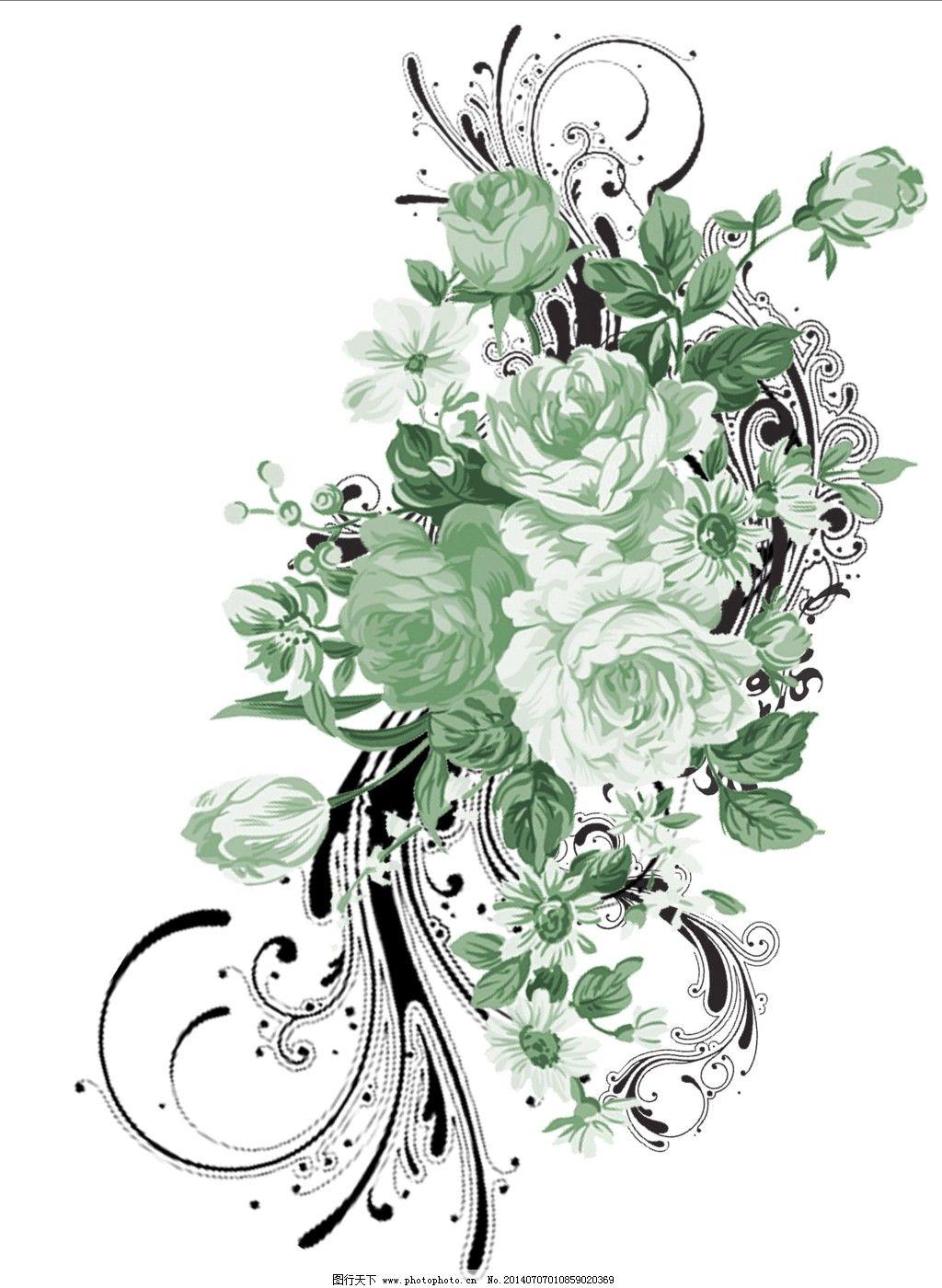 手绘图 鲜花 鲜花