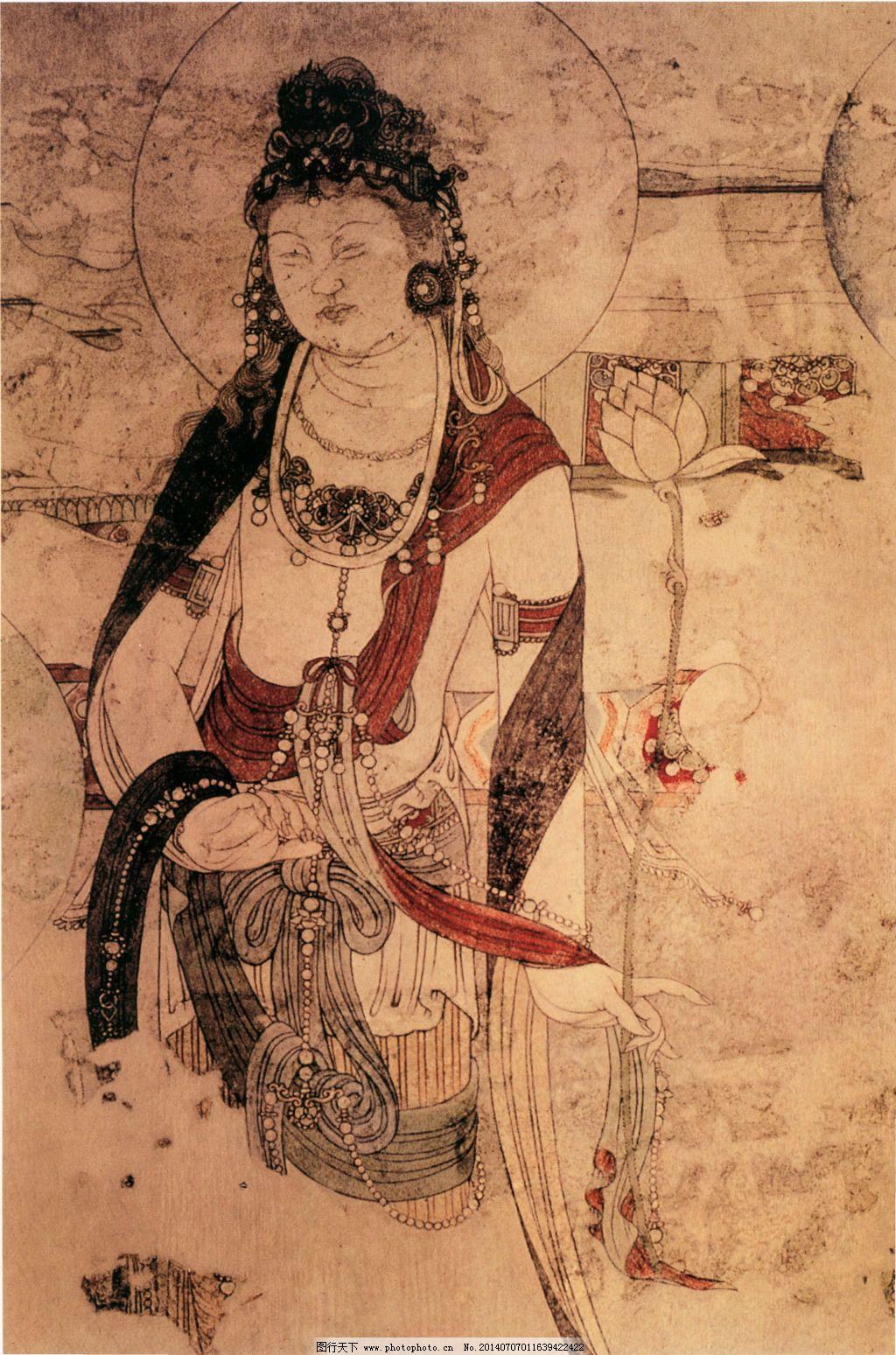 敦煌壁画免费下载 绘画 美术 中国文化 中国文化 美术 绘画 装饰素材图片