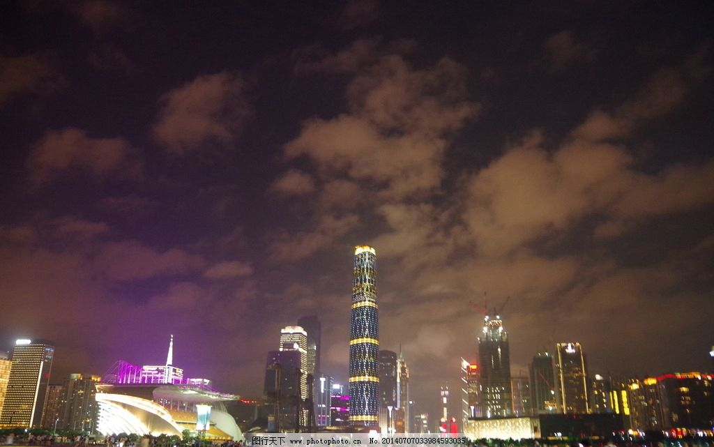 广州天河夜景