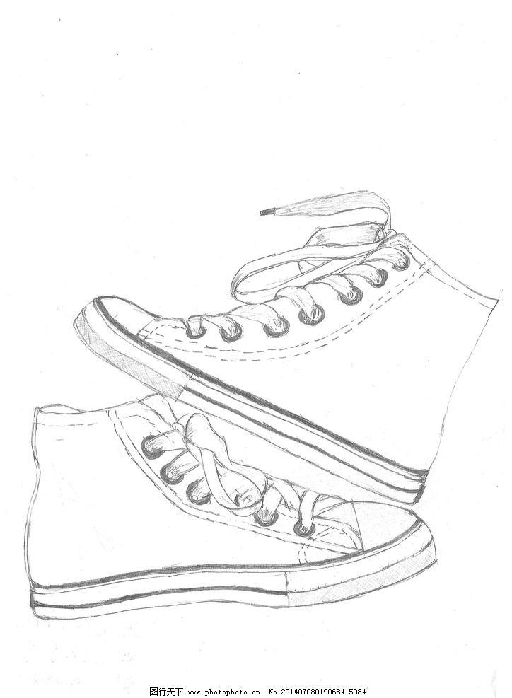 手绘鞋子图片