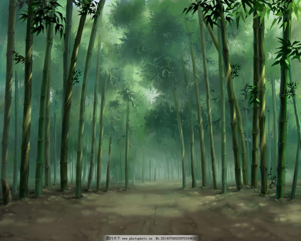 手绘竹子 手绘竹子免费下载 国画水墨 沙发背景墙 竹林 竹子背景墙