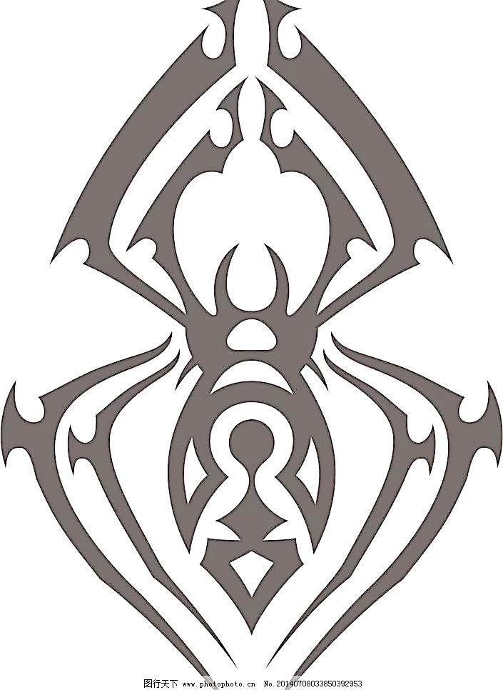 cdr 昆虫 生物世界 蜘蛛 昆虫 蜘蛛花纹 纹身图案图腾 蜘蛛 生物世界