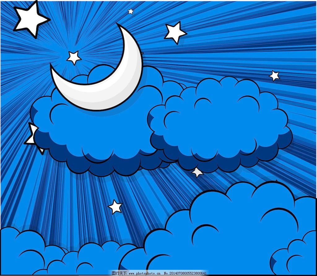 摘要云月亮星星背景