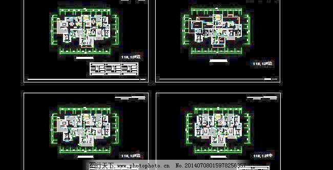 家庭室内标准装修平面设计图