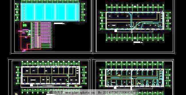 钢结构厂房给排水 电气设计施工图