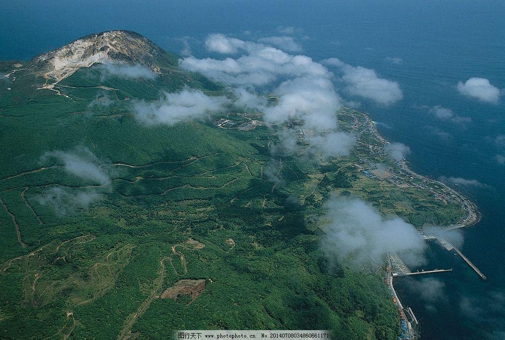 四季景观图片,峡谷 岛屿 海洋 海浪 礁石 自然风景-图