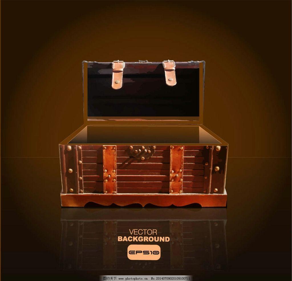 宝箱 箱子 百宝箱 皮箱 行李箱 其他图标 标志图标 设计 eps图片