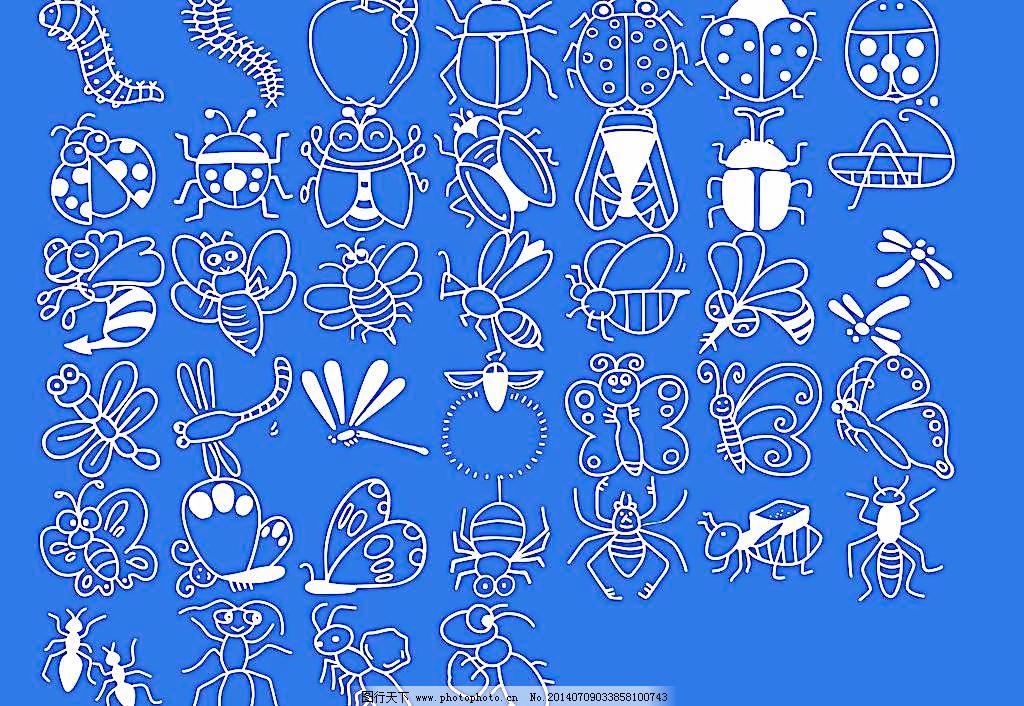 各种昆虫简笔画图片