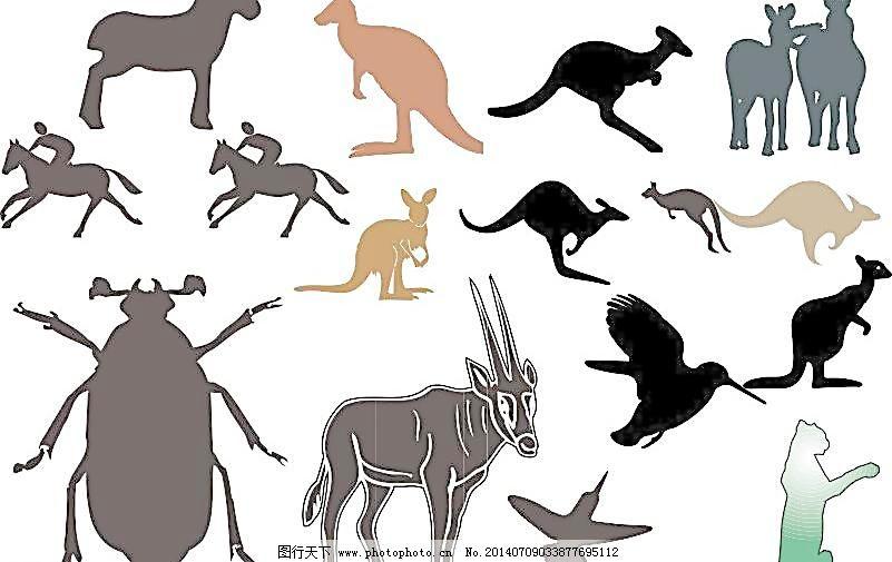 经典动物素描图 素描