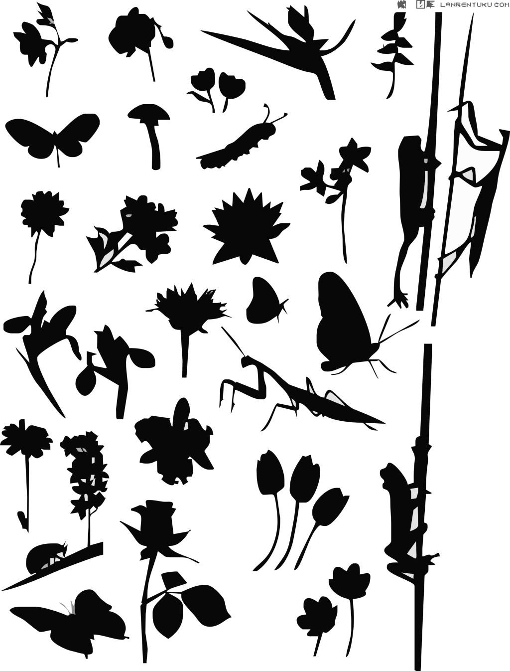 树木树叶 叶子 叶子 矢量叶子 树木树叶 树剪影 动感花纹 花纹花边