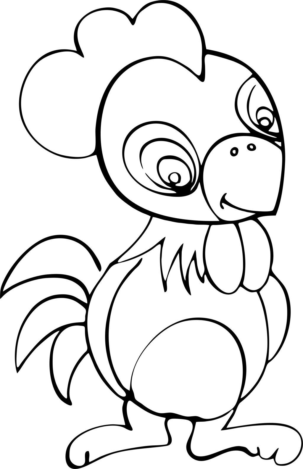 可爱鸡仔手绘图