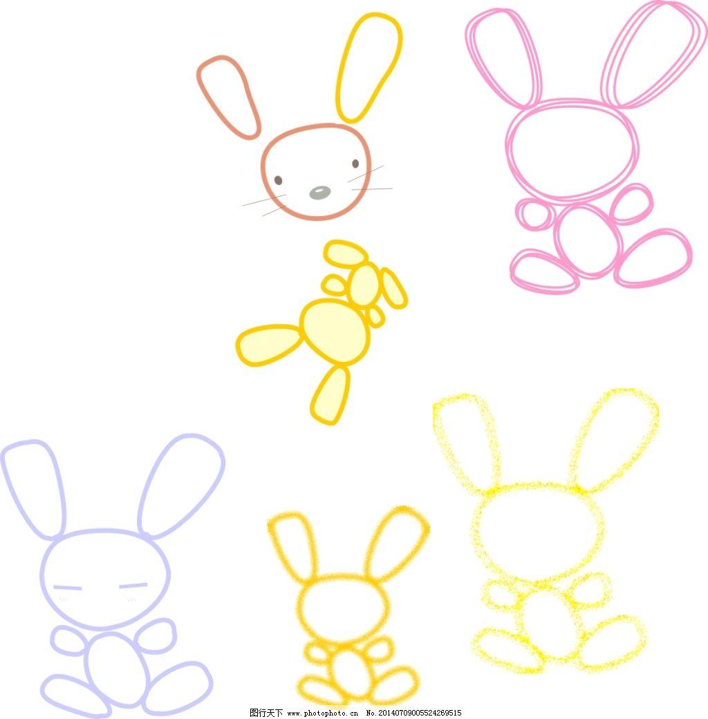 小动物免费下载 刺绣 动物 卡通 卡通 动物 婴装 刺绣 矢量图 其他