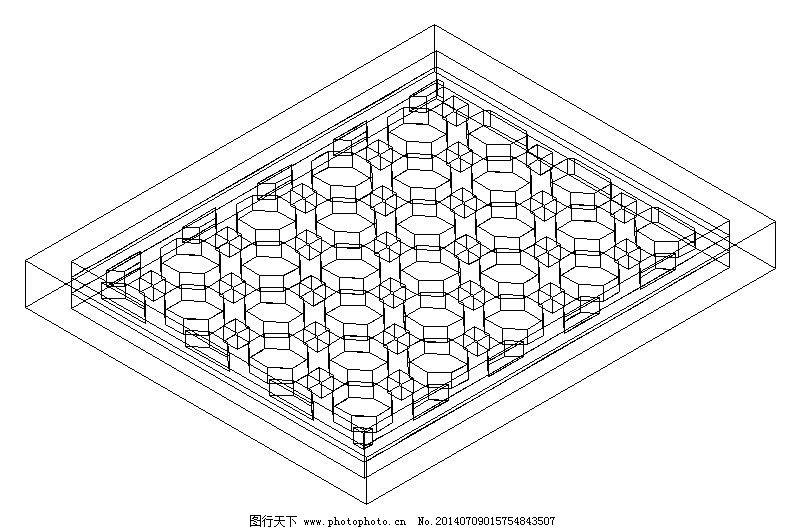 六边形拼花窗格免费下载 cad 窗户 建设 建筑 六边形 设计 施工