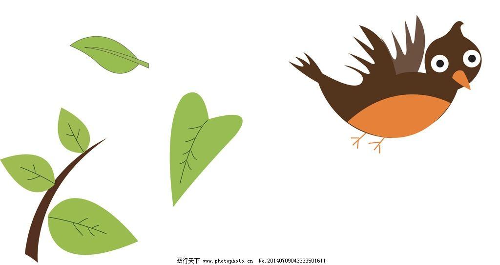 小鸟树叶图片图片
