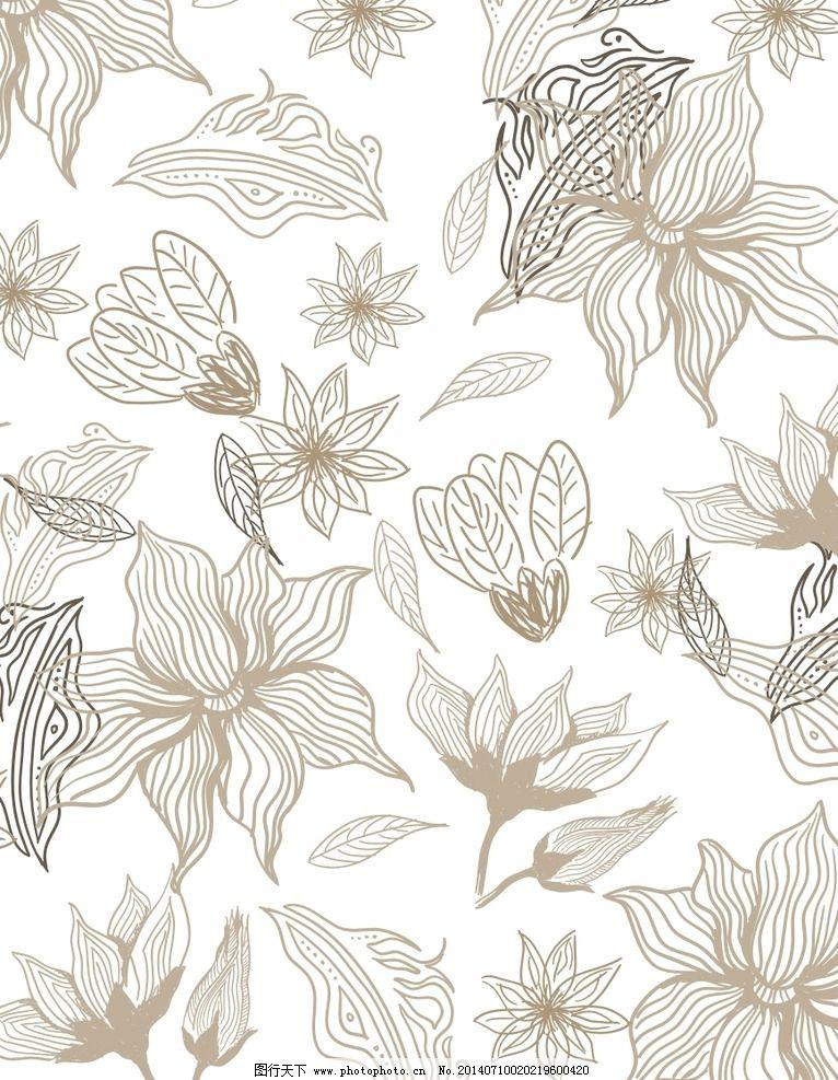 鲜花图案 白玉兰 玉兰花 布纹 手绘花纹 墙纸纹 印花 时尚花纹