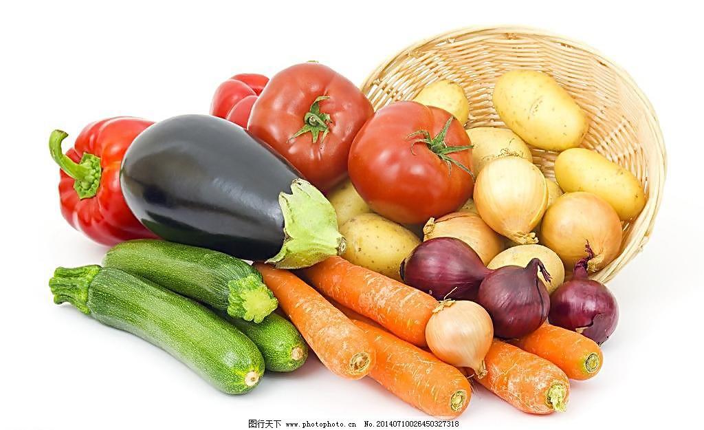 300dpi jpg 白底 番茄 高清 红辣椒 胡萝卜 黄瓜 健康 辣椒 一筐新鲜图片