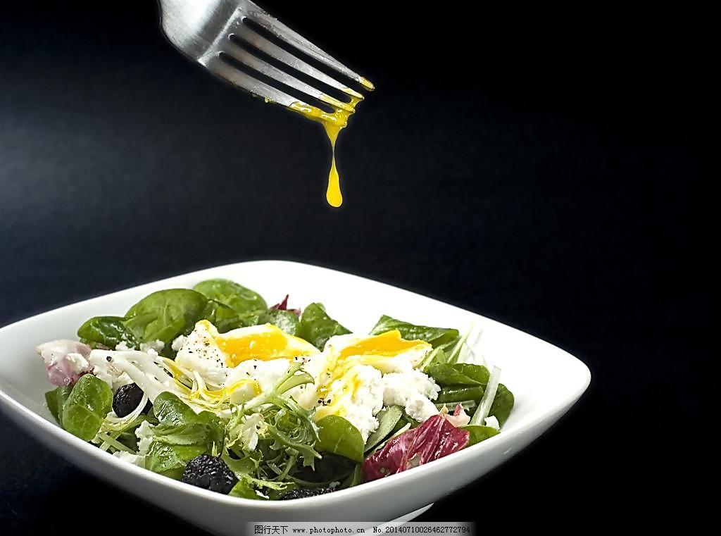 240dpi jpg 餐饮美食 叉子 摄影 图库 西餐美食 西式美食 蔬菜色拉图片