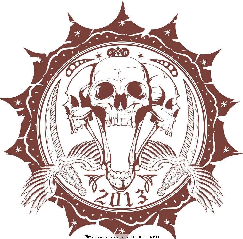 欧美花纹 欧式花纹 恐怖图案 哥特风格图案 纹身图案 欧美纹身 欧式