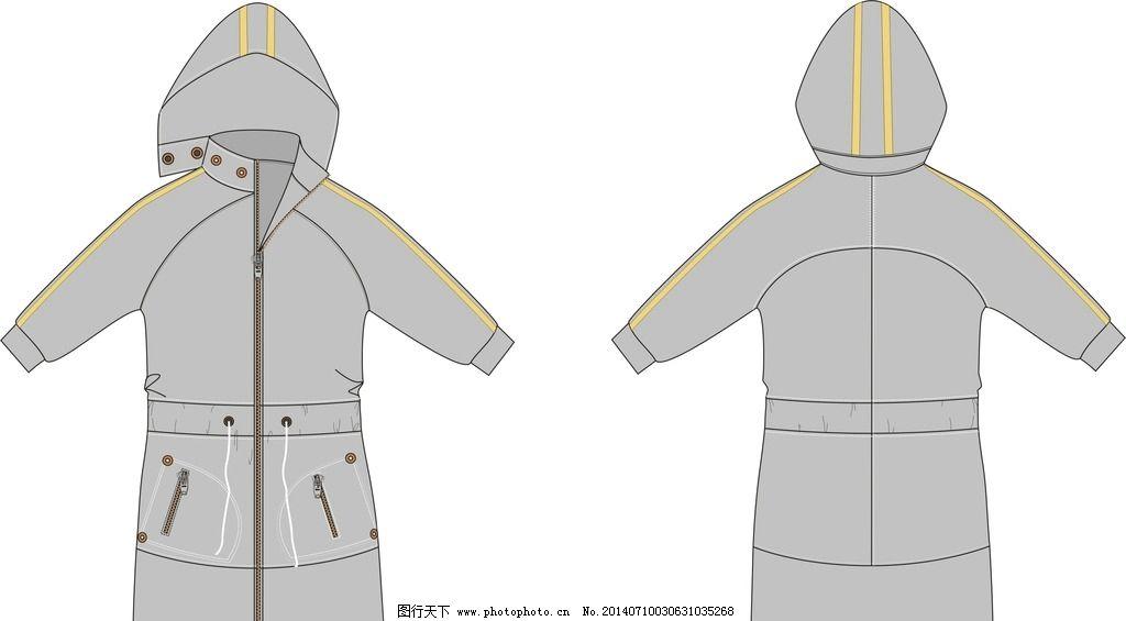大衣款式矢量图 服装款式设计 大衣款式设计 矢量图 服装结构设计