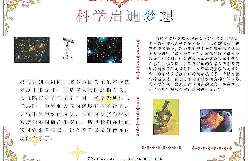 花边 小学生手抄报 海报设计 广告设计 矢量 cdr 矢量图 现代科技