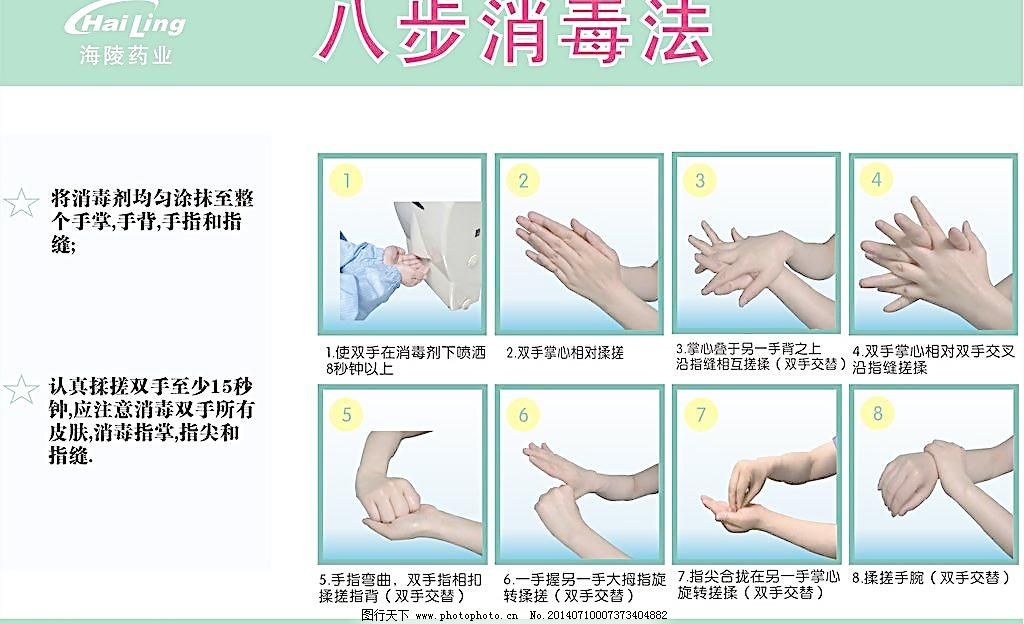 八步洗手法图片
