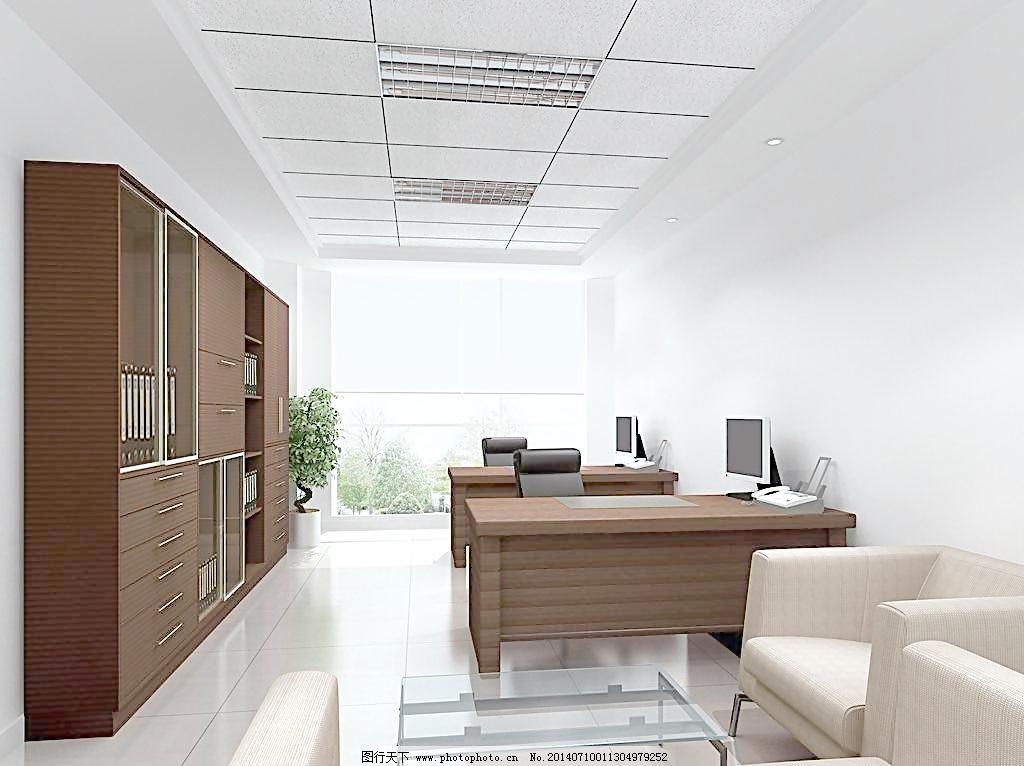 室效果图 办公室 办公楼 写字楼 办公家具 办公桌 办公椅 桌子 椅子