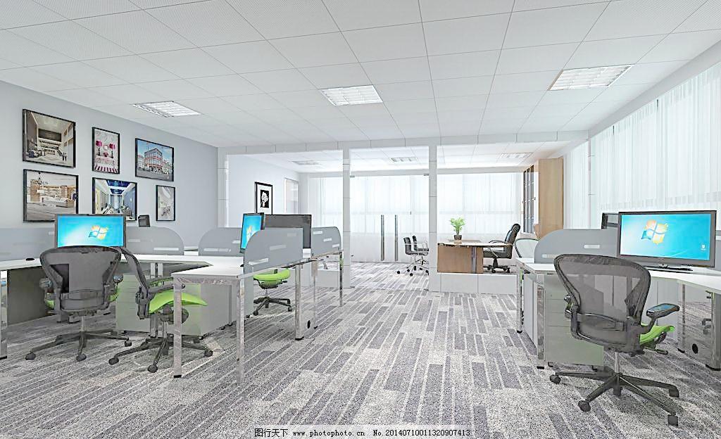叠石桥办公室 叠石桥办公室图片免费下载 地板 电脑桌 室内设计图片
