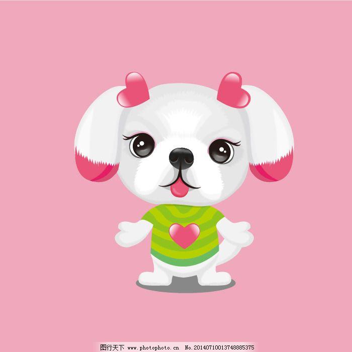矢量免费下载 动物 服装图案 狗 卡通 免费下载 矢量 卡通 动物 宠物