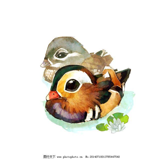 位图 艺术效果 手绘 动物 鸭子 免费素材