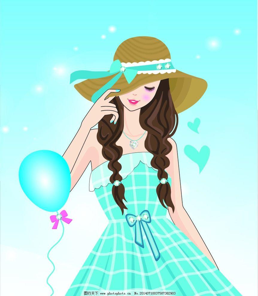 唯美女孩 唯美 浪漫 可爱 美丽 大气 优美 气球 裙子 长发女孩 个性