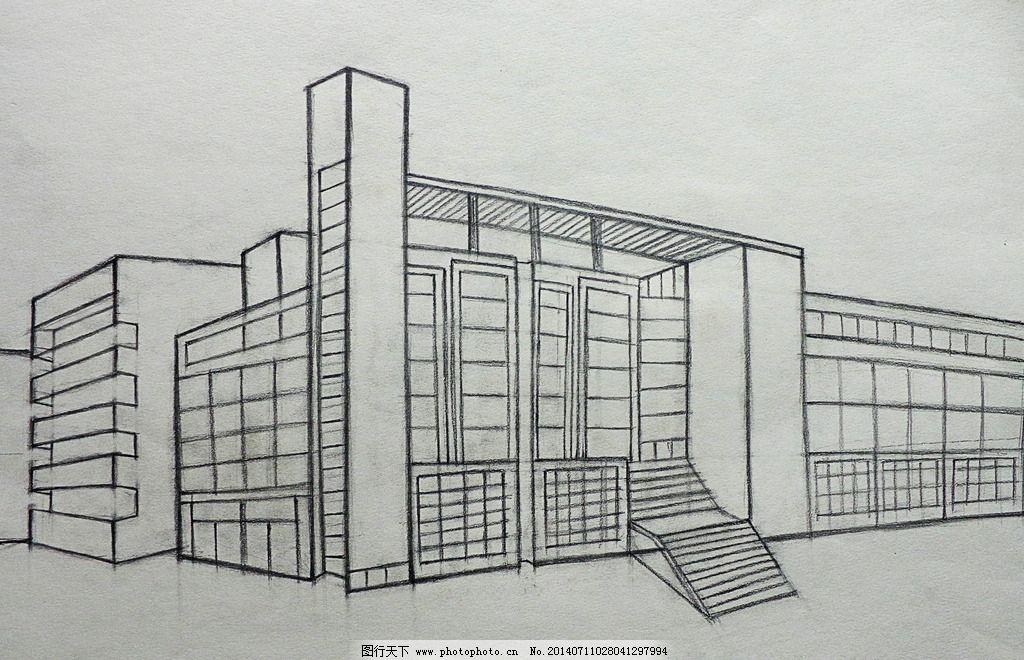 教学楼 学校 学习看书 学生 结构素描