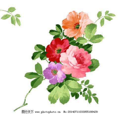文字 别了/手绘玫瑰花与叶子