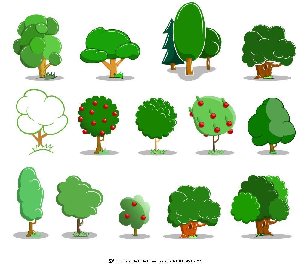 幼儿园墙柱装饰大树