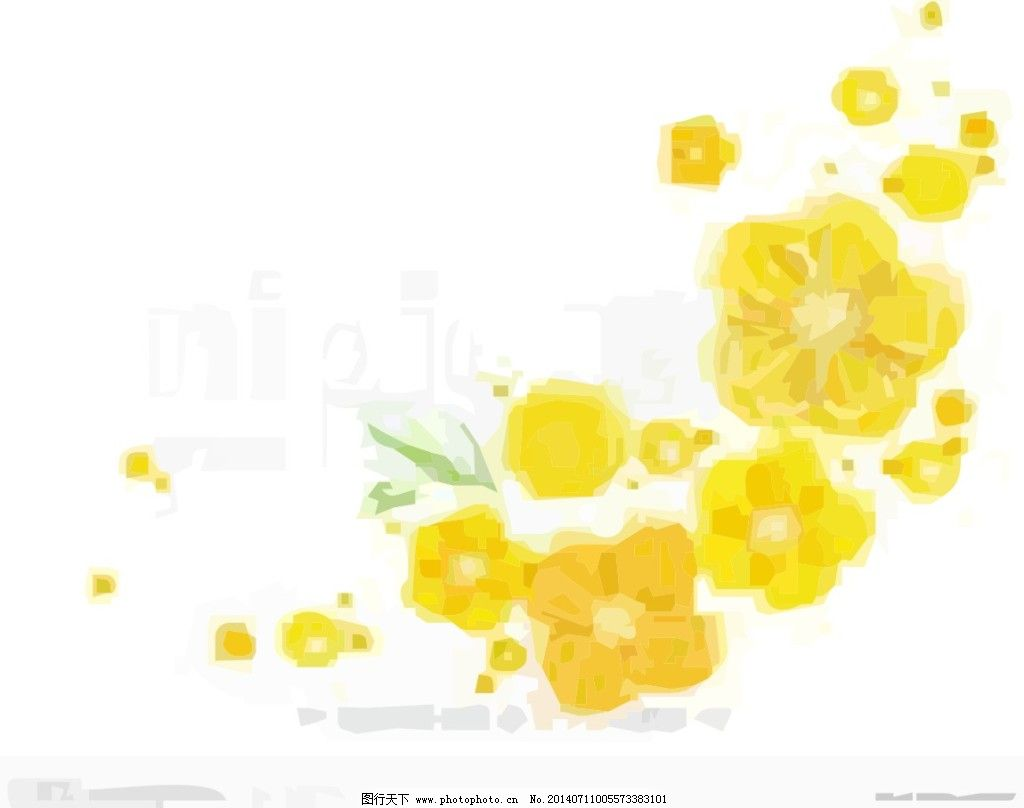 手绘花免费下载 花 花团