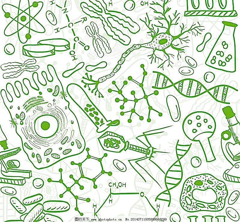 符号 数字 化学式 dna结构 生命科学 手绘图案符号 数学题 分子结构图