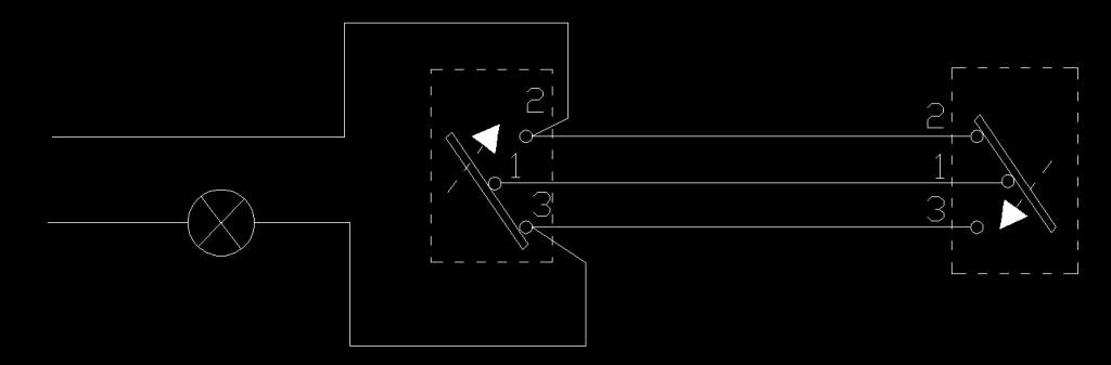 双控照明开关接线cad图纸_建筑图纸_cad素材_图行天下
