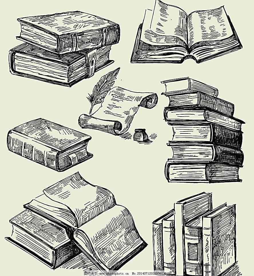 作业本 手绘书本