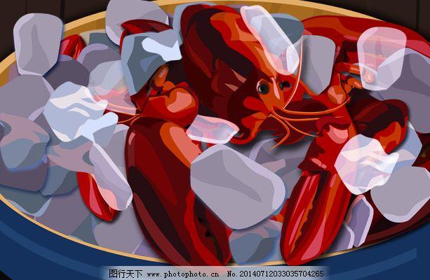 盘中的大龙虾