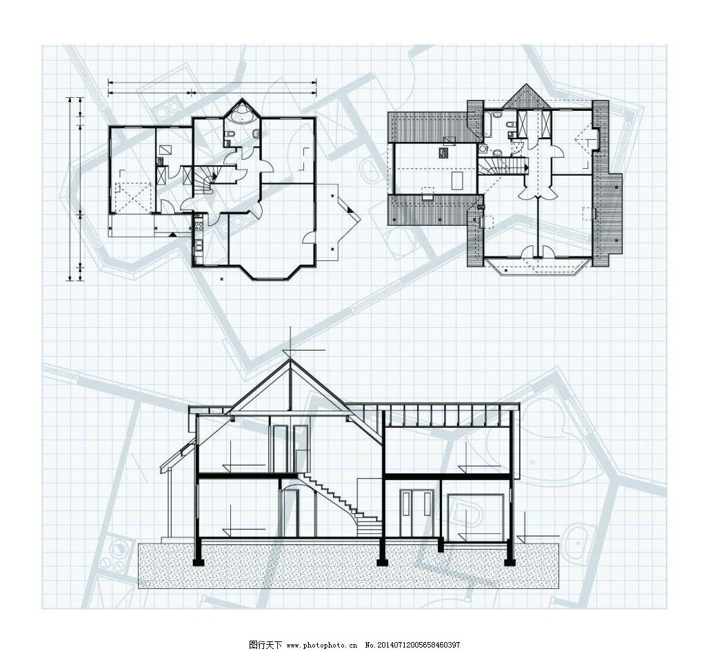 房子建筑图纸免费下载 房子 建筑 设计图 图纸 建筑 图纸 房子 设计图