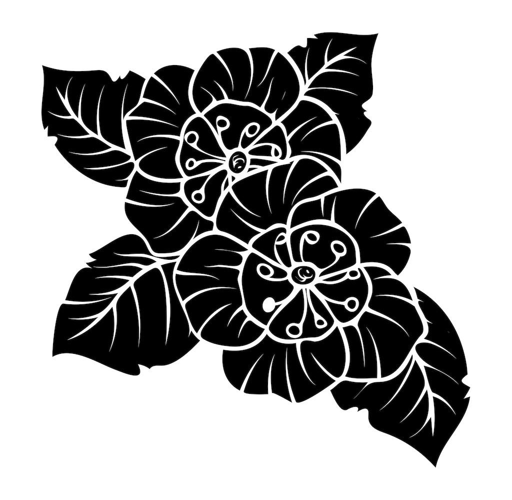黑色的花朵形状设计图片