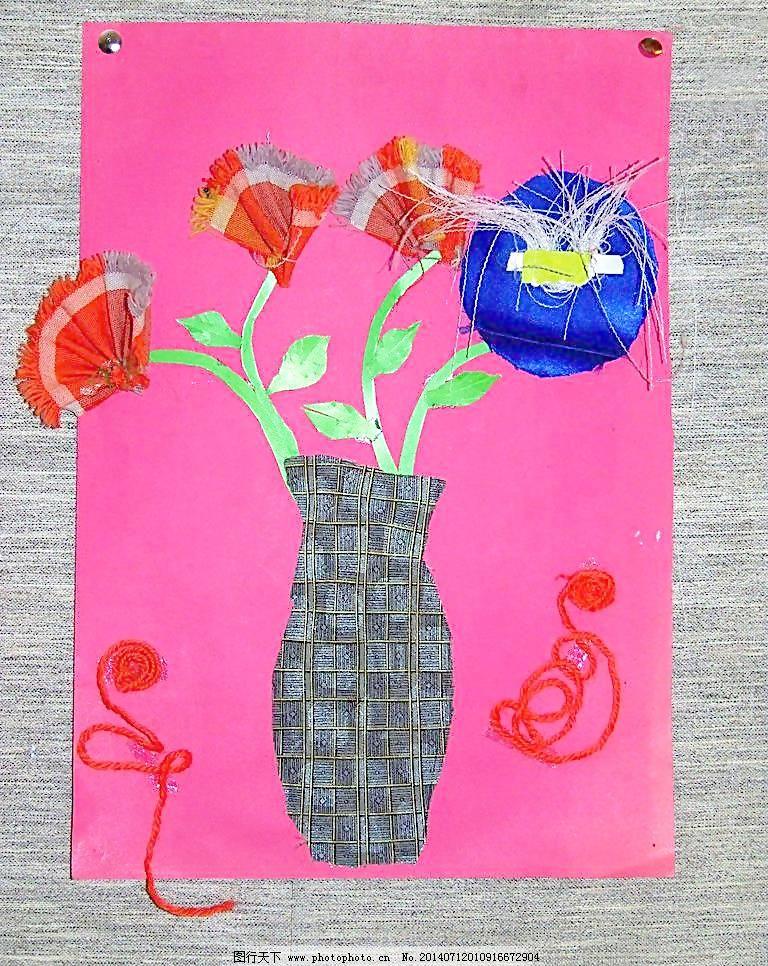 美术展览绒线布粘贴画图片