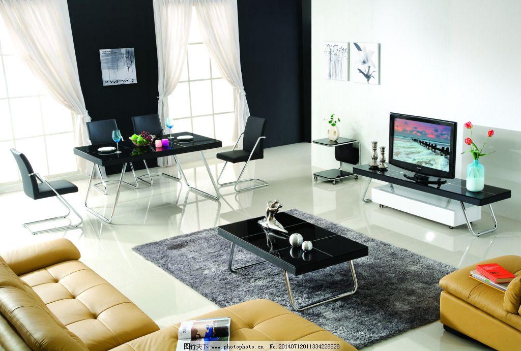 沙发 电视柜 电视柜背景 地毯 茶几 沙发 挂画 家居装饰素材 室内设计