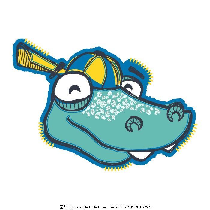 印花矢量图 t恤图案 图文结合 卡通动物 鳄鱼 免费素材