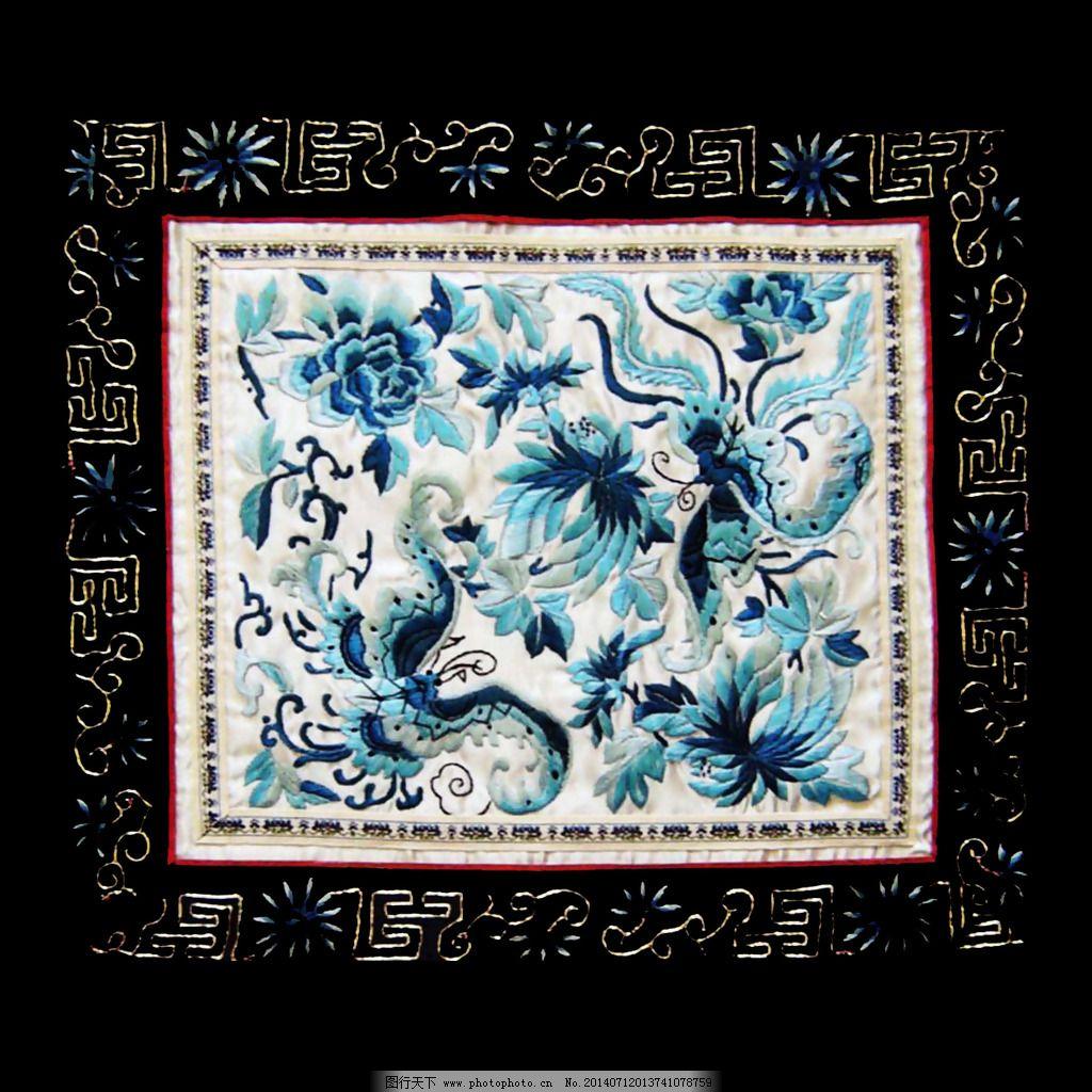 绣花 刺绣 中国风 动物 蝙蝠 免费素材